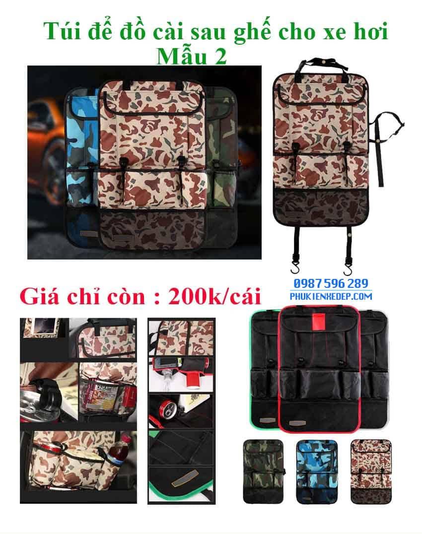 Túi đựng đồ lưng ghế ô tô - mẫu 2