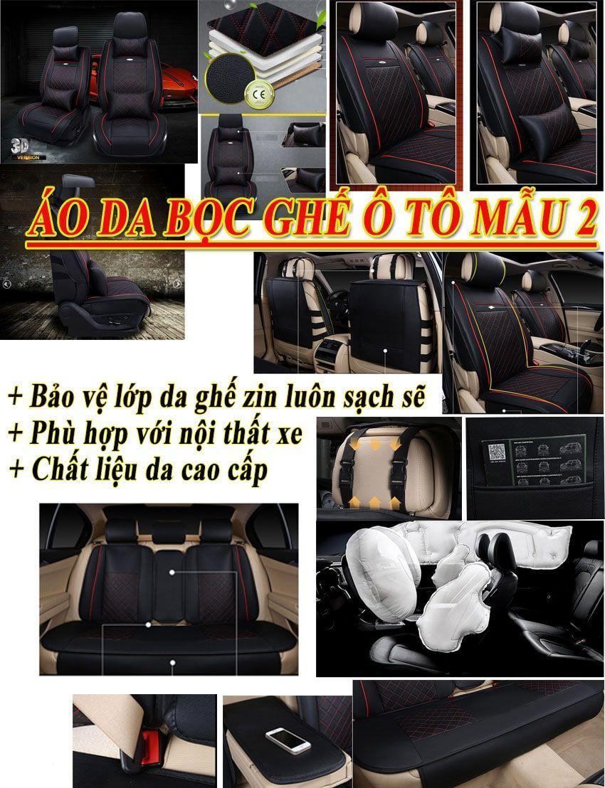 Bộ áo da 3D bọc ghế da ô tô – mẫu 2