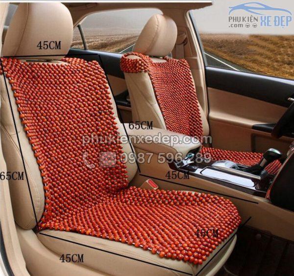Lót ghế ô tô hạt gỗ Nhãn 6