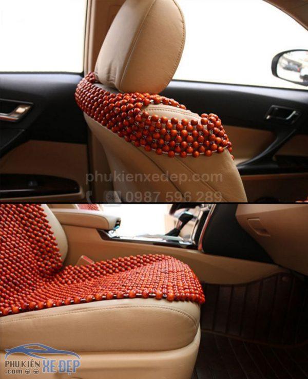 Lót ghế ô tô hạt gỗ Nhãn 8