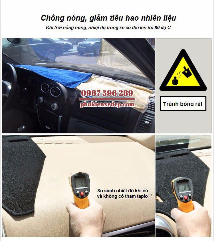 Thảm chống nóng taplo cho xe ô tô KIA RONDO 1