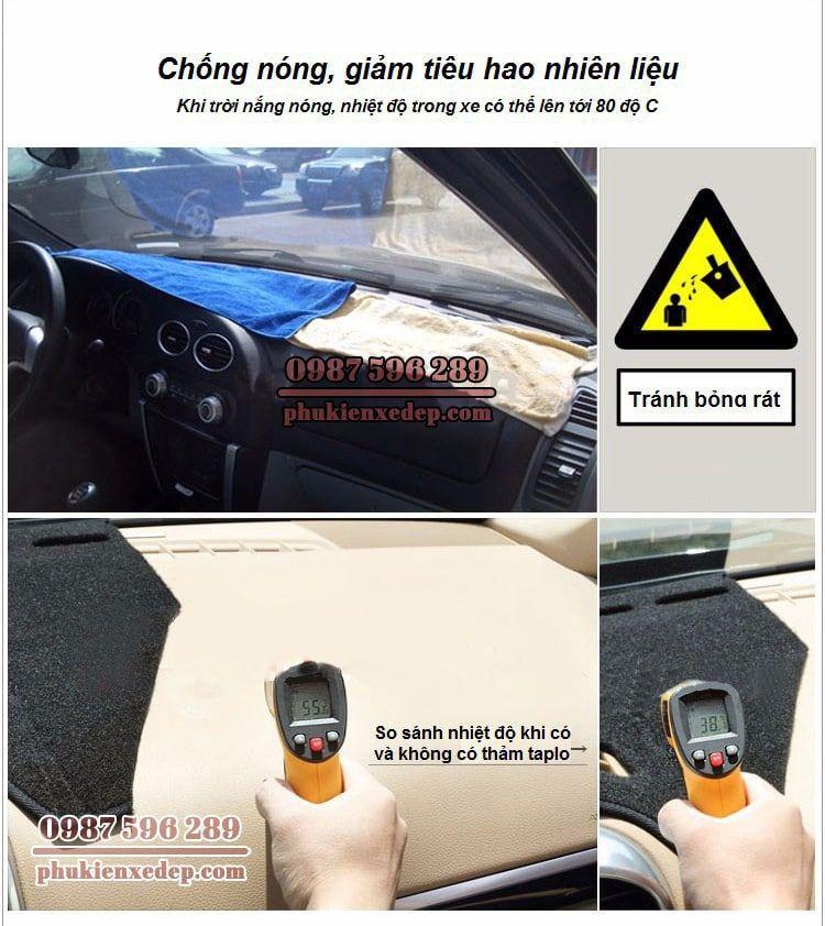 Thảm chống nóng taplo cho xe ô tô Toyota Zace 1