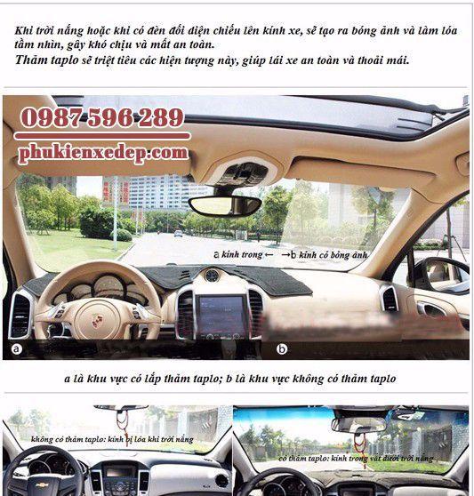 Thảm chống nóng taplo cho xe Camry 2010 Việt Nam 1