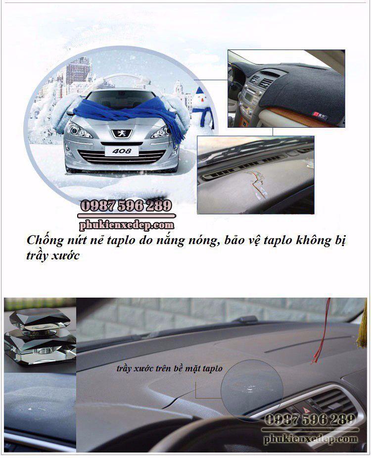 Thảm chống nóng taplo cho xe Toyota Hilux