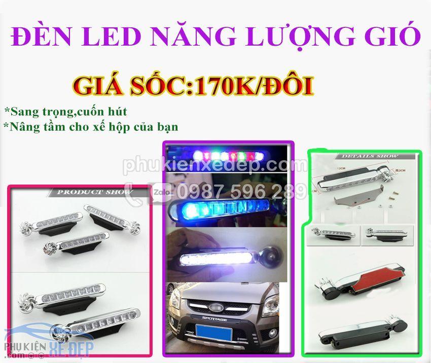 Đèn LED năng lượng gió cho ô tô 1