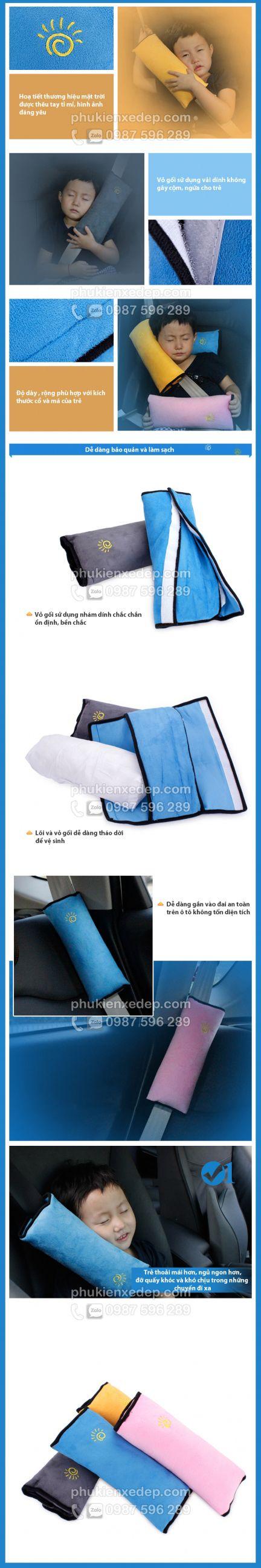 Gối ngủ trên xe ô tô, gối ngủ cài dây an toàn 14