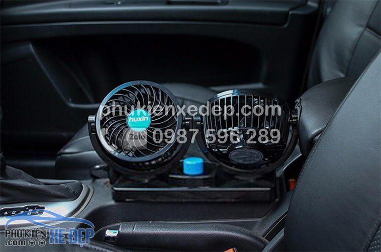 Quạt điện 12v - 24v mini cho ô tô 3