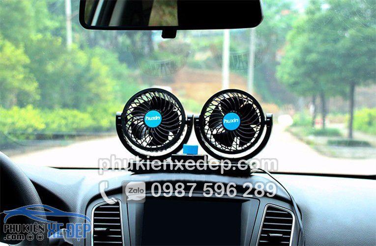 Quạt điện 12v - 24v mini cho ô tô 4