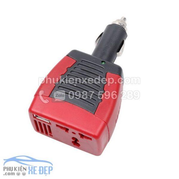 Tẩu sạc ô tô chuyển điện 12v thành 220v, công suất 75W 2