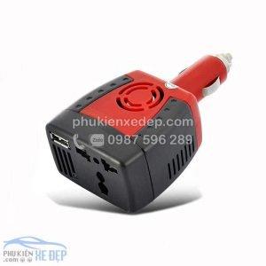 Tẩu sạc ô tô chuyển điện 12v thành 220v, công suất 75W 4