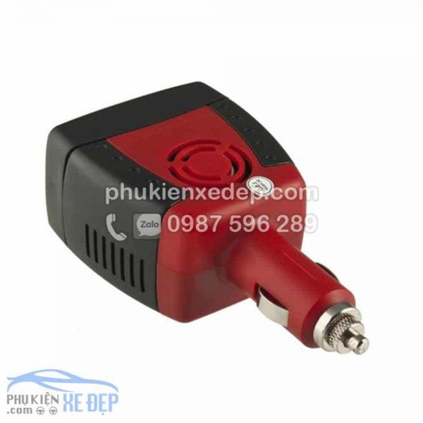 Tẩu sạc ô tô chuyển điện 12v thành 220v, công suất 75W 5