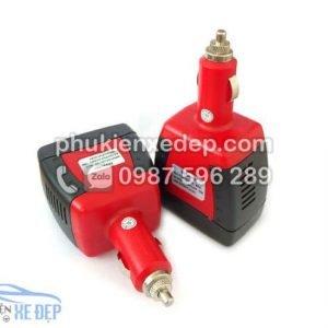 Tẩu sạc ô tô chuyển điện 12v thành 220v, công suất 75W 6
