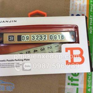 Bảng số điện thoại gắn táp lô ô tô – mẫu 2 1