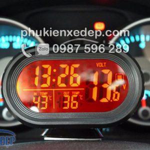 Nhiệt kế điện tử, đồng hồ điện tử trên ô tô 3