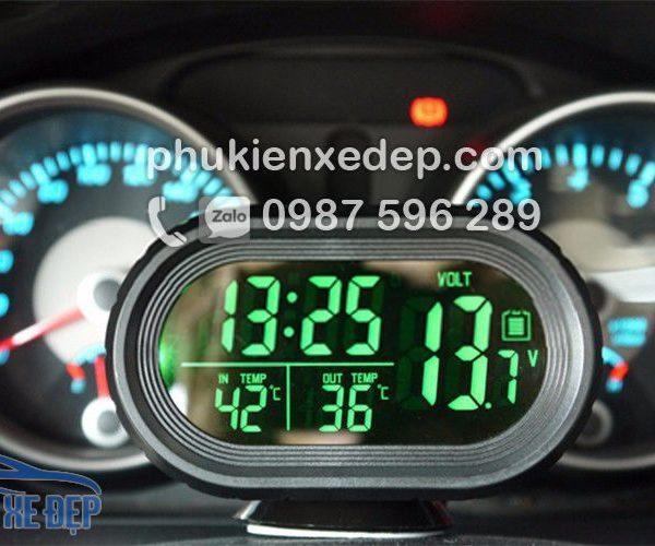 Nhiệt kế điện tử, đồng hồ điện tử trên ô tô 2