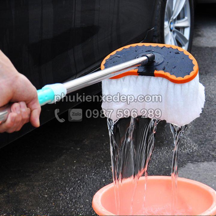 Chổi rửa xe ôtô cán dài chuyên dụng 2