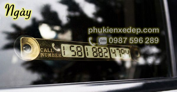 Bảng ghi số điện thoại trên ô tô giá rẻ 1
