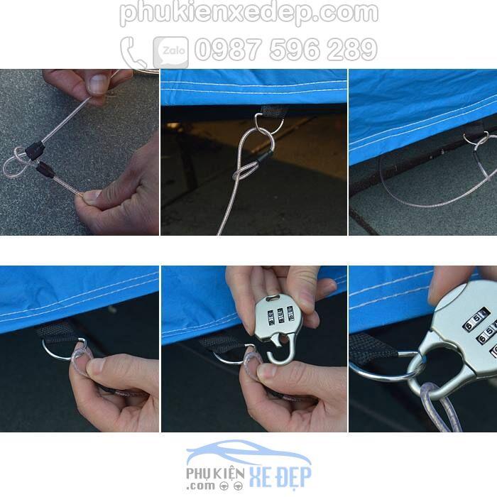 Bạt phủ ô tô PVC che phủ chống xước 1