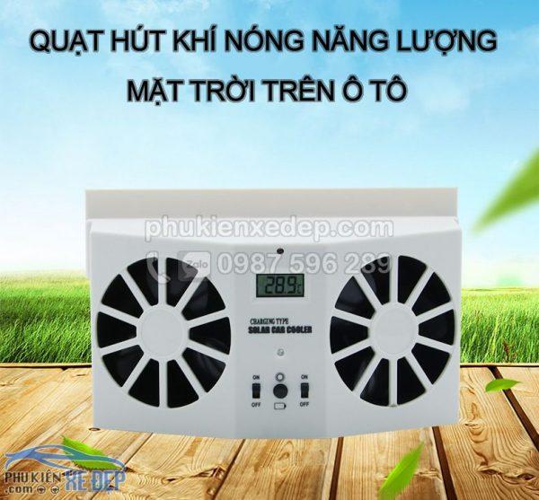 Quạt hút khí nóng ô tô năng lượng mặt trời 1