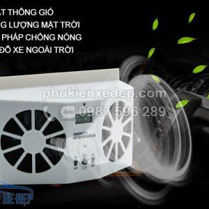 Quạt hút khí nóng ô tô năng lượng mặt trời 2