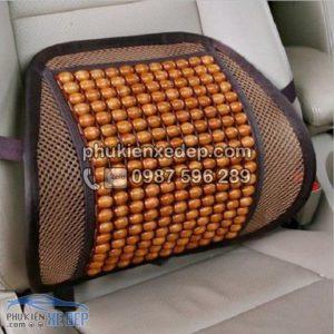 Tấm lưới tựa lưng ghế ô tô Hạt Gỗ 3