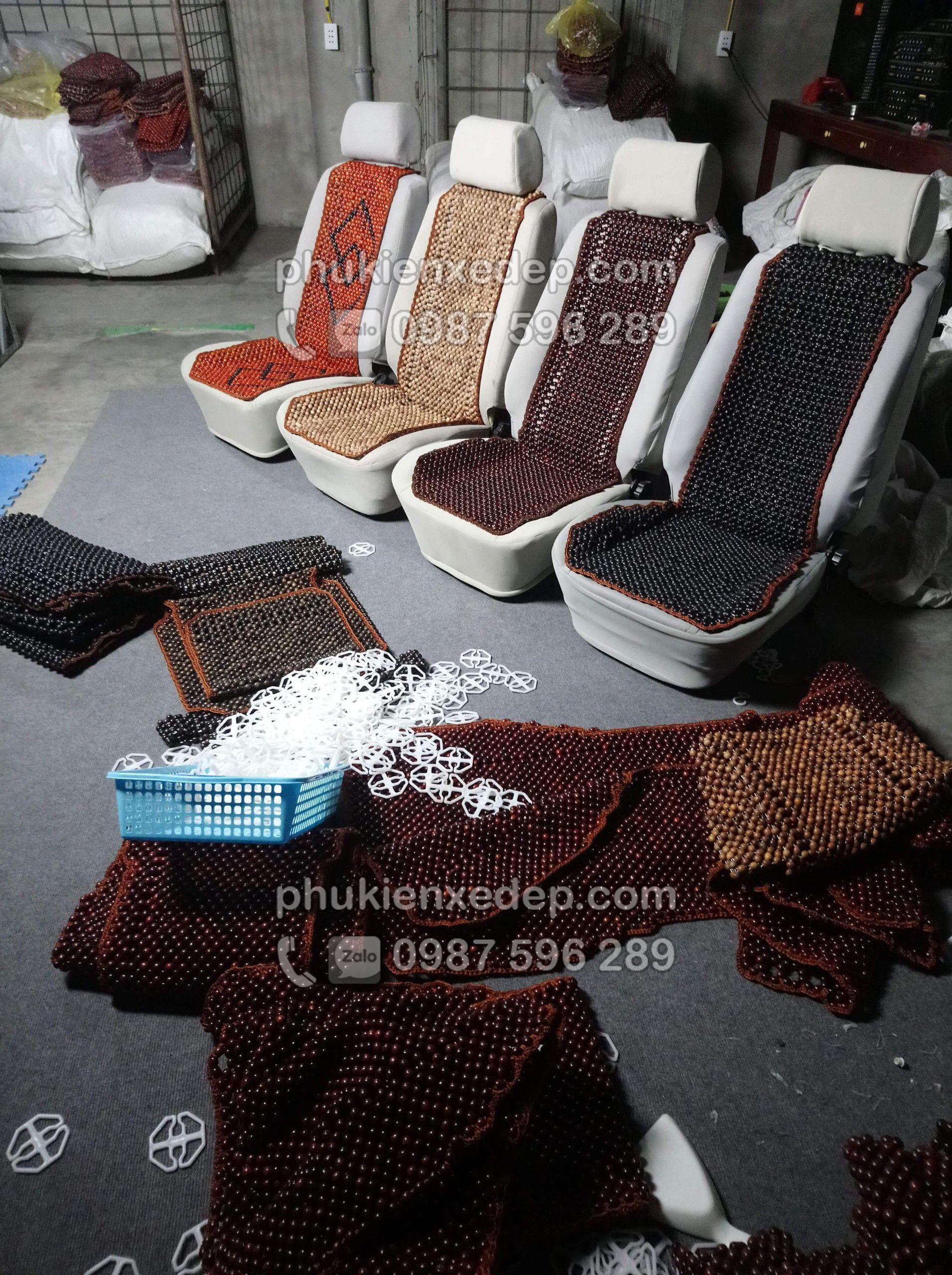 Lót ghế hạt Bồ Hòn