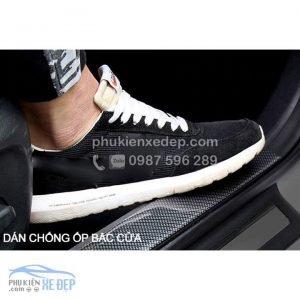 Nẹp carbon 5D chống va đập cốp xe, nẹp bước chân 4