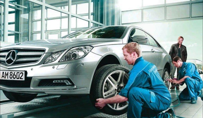 Bảo dưỡng và đảo lốp ô tô