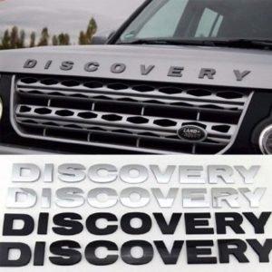 Decal tem chữ Discovery 3D cho ô tô