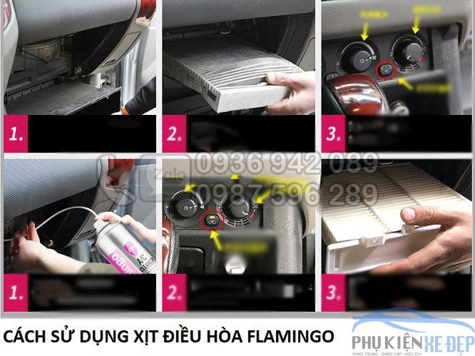 Bình xịt vệ sinh điều hòa ô tô
