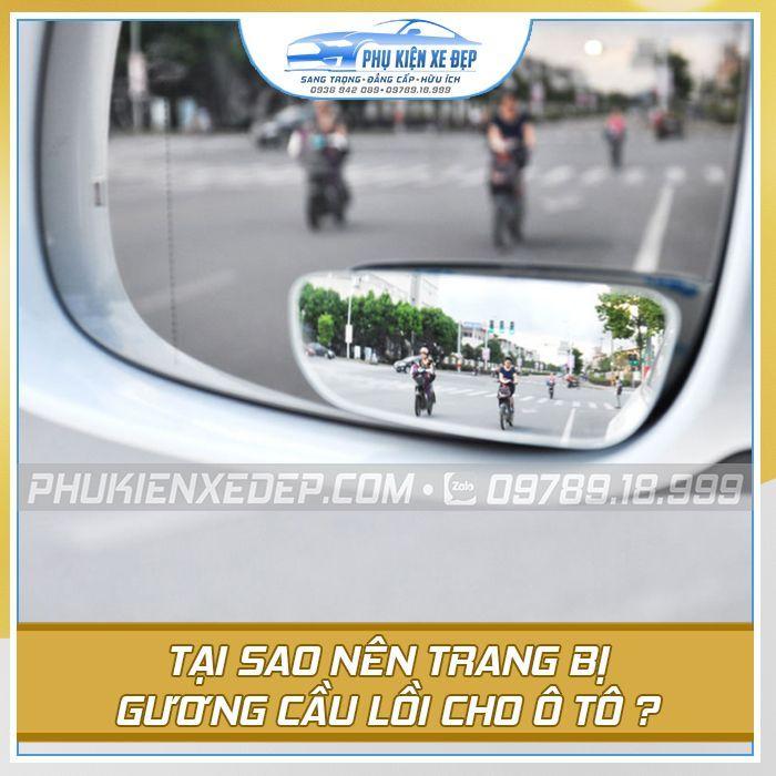 Gương cầu lồi 360 độ cho ô tô tại Phụ Kiện Xe Đẹp khác với gương cầu ngoài thị trường